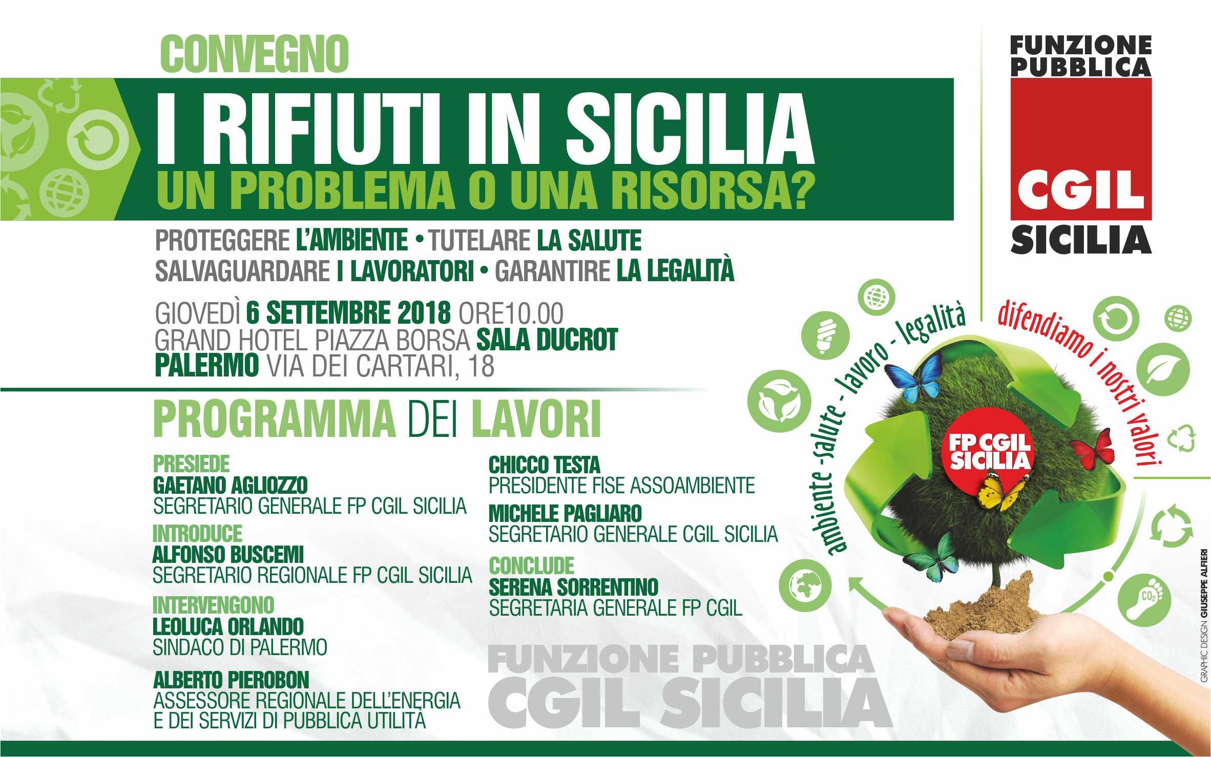 La gestione integrata dei rifiuti in Sicilia, a Palermo la Fp Cgil lancia la sua proposta: l'evento in diretta sulla pagina facebook https://www.facebook.com/FP-CGIL-SICILIA-157281441514908/