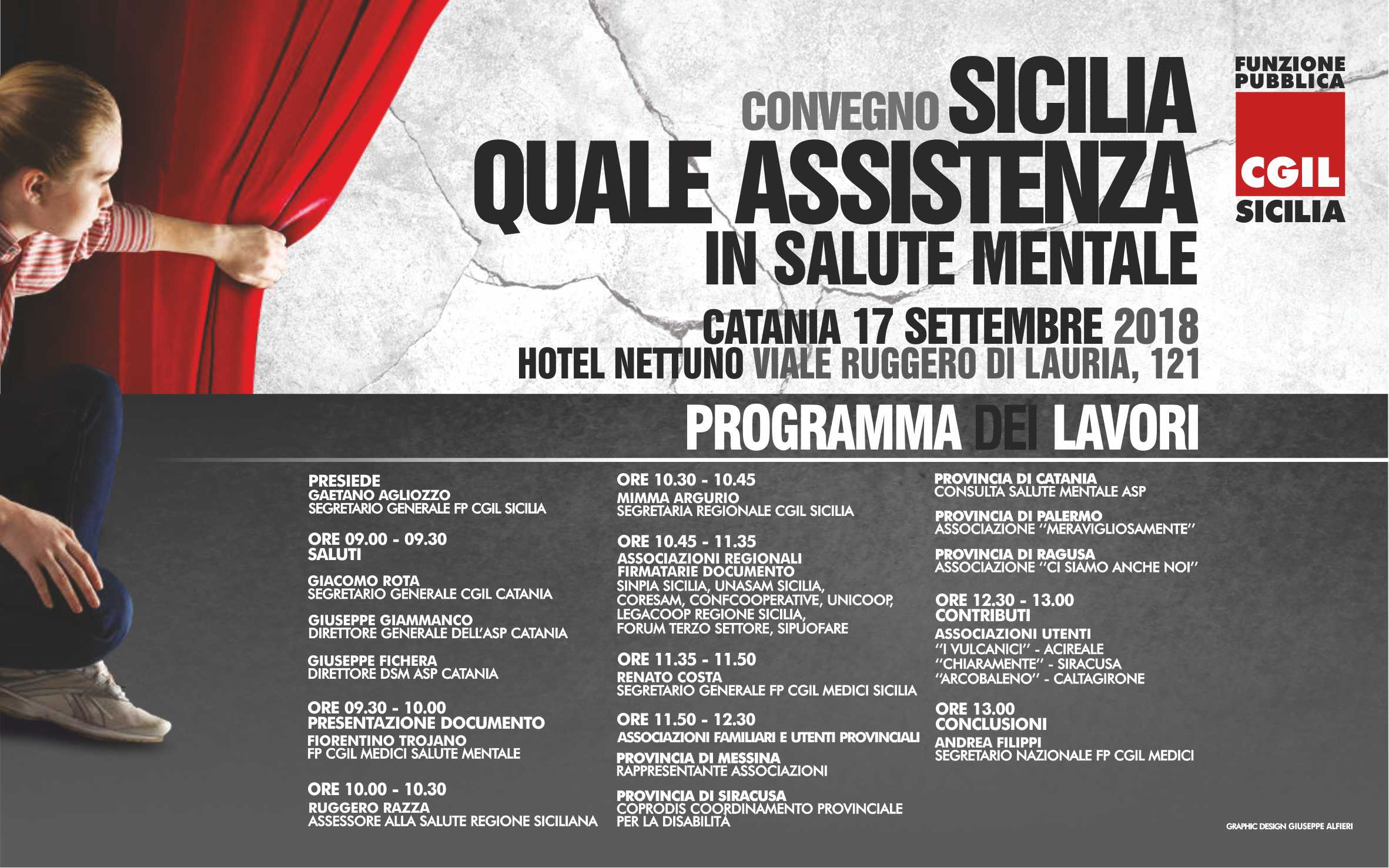 """""""Sicilia Quale Assistenza in Salute Mentale"""", il 17 settembre convegno a Catania della Fp Cgil"""