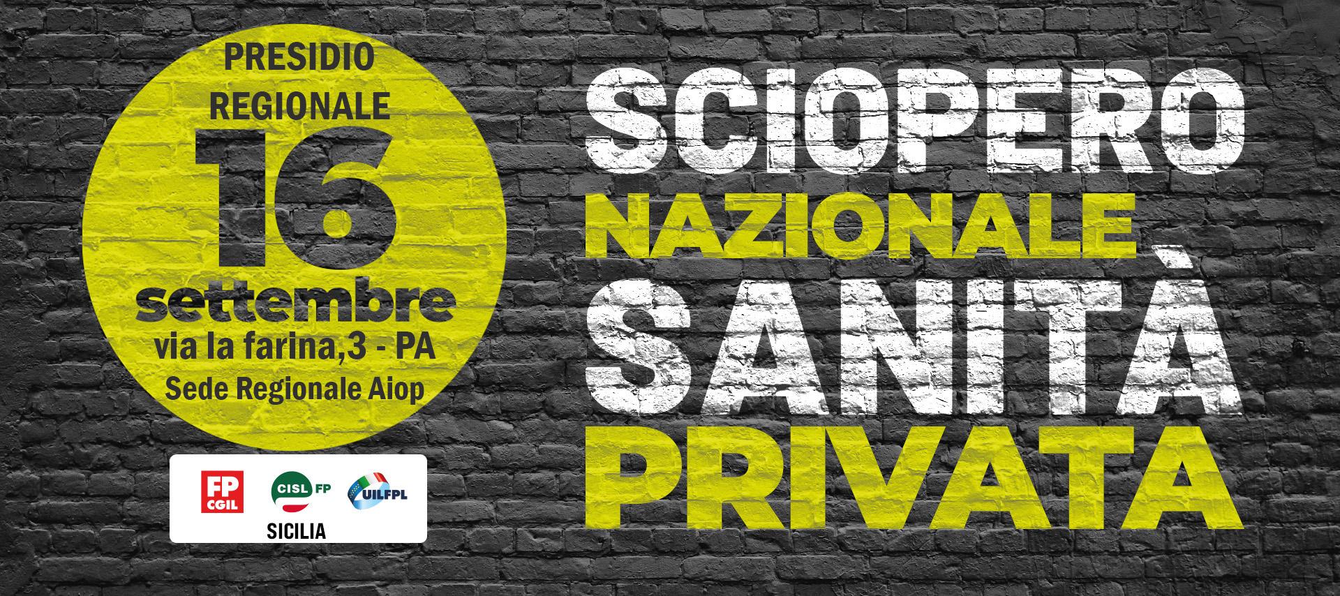Sanità privata, i sindacati: Sciopero generale il 16 settembre per il rispetto dei diritti dei lavoratori