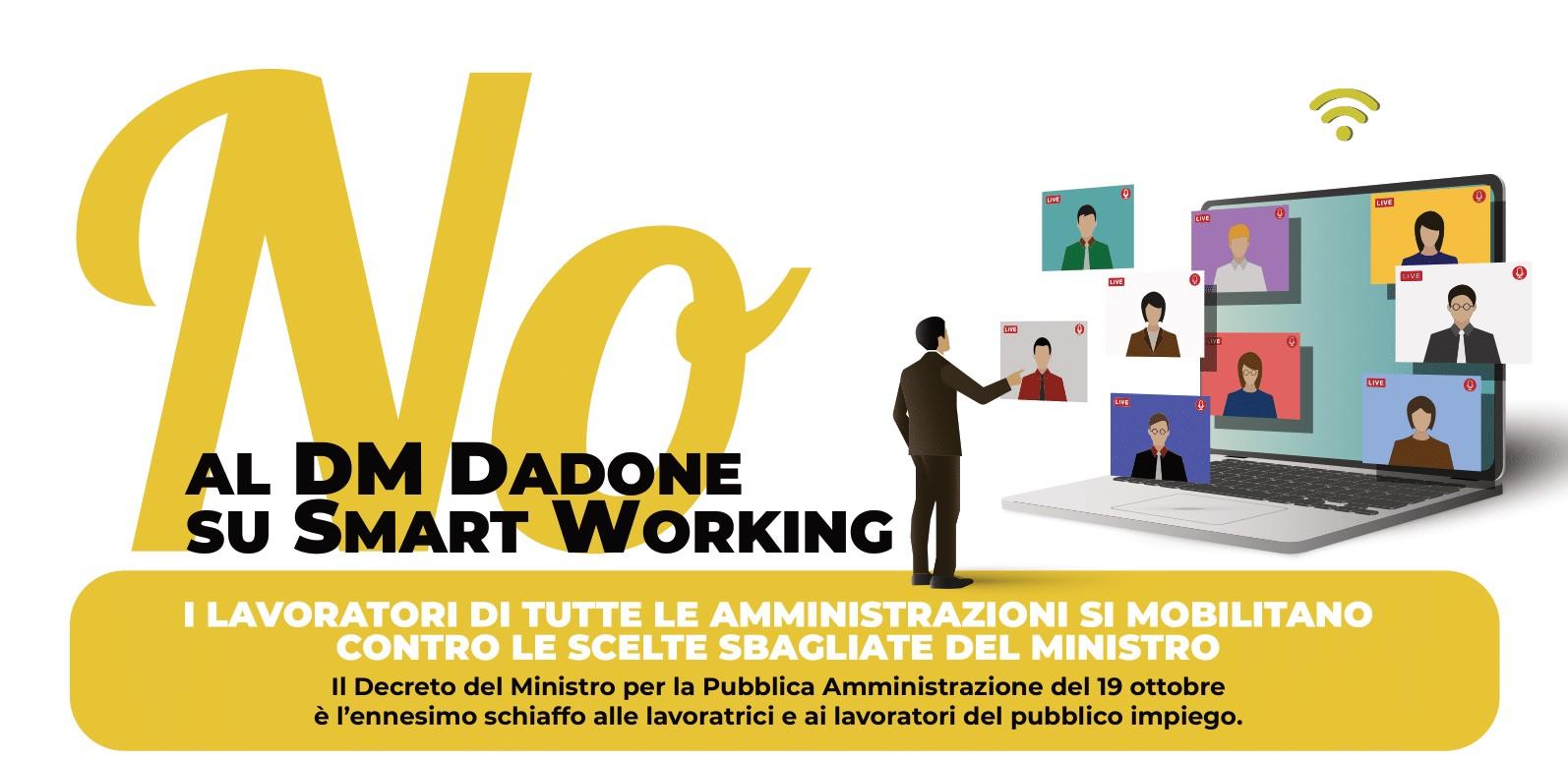 NO AL DECRETO DADONE SULLO SMART WORKING! AL VIA LA MOBILITAZIONE