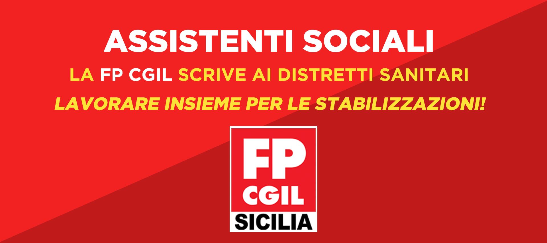 ASSISTENTI SOCIALI – LA FP CGIL SCRIVE AI DISTRETTI: LAVORIAMO INSIEME ALLA STABILIZZAZIONE!