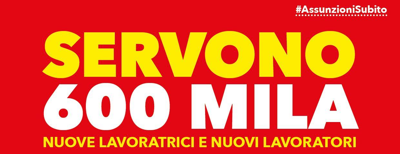 #ASSUNZIONISUBITO – SERVONO 600MILA NUOVI INGRESSI NELLA PA